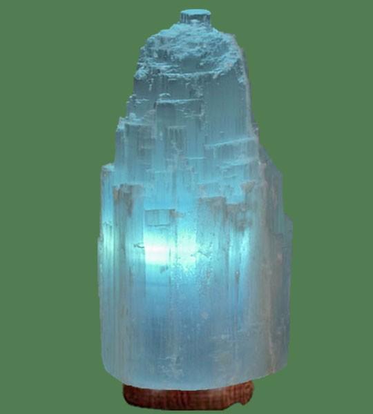 Selenite Lamp Jumbo Blue White Crystal With Blue Bulb 17 Quot